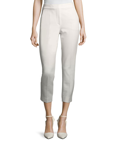 Cropped Slim-Leg Pants