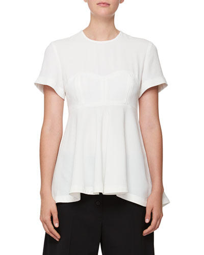 Short-Sleeve Corset Blouse