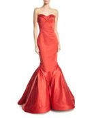 Sweetheart Trumpet Duchess Evening Gown