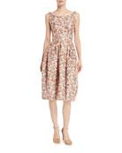 Sleeveless Scoop-Neck Bonded-Lace Dress
