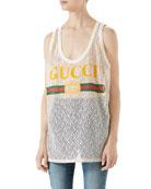 Gucci-Logo Lace Tank