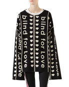 Blind For Love Jacquard Wool Coat