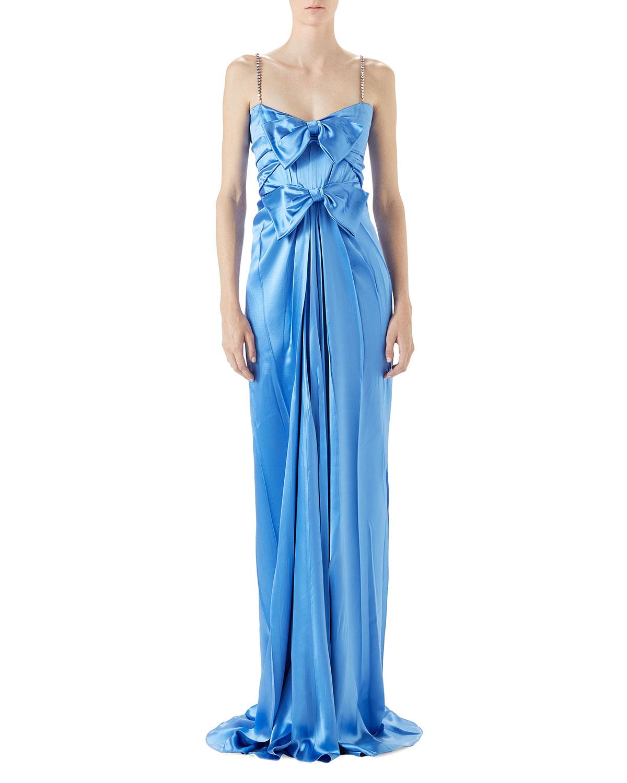 Satin Draped Gown