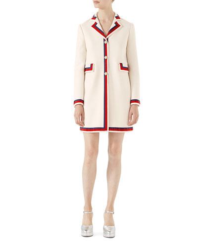 Wool Coat with Sylvie Web