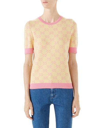 GG Jacquard Wool Sweater