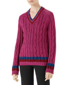 Gucci Lurex?? Cable-Knit Sweater