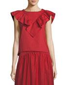 Atlantique Ascoli Ankle-Length A-Line Cotton-Linen Midi Skirt and