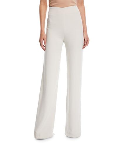 Side-Zip Wide-Leg Pants