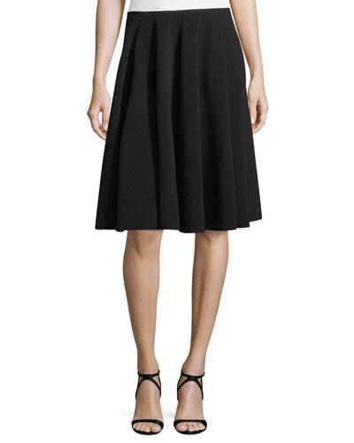 A-Line Ottoman-Rib Skirt