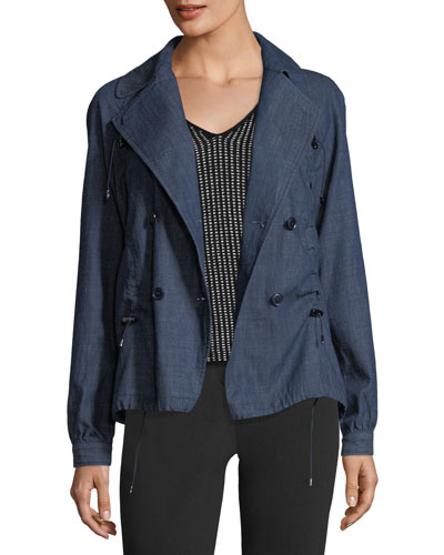 Double-Breasted Chambray Jacket