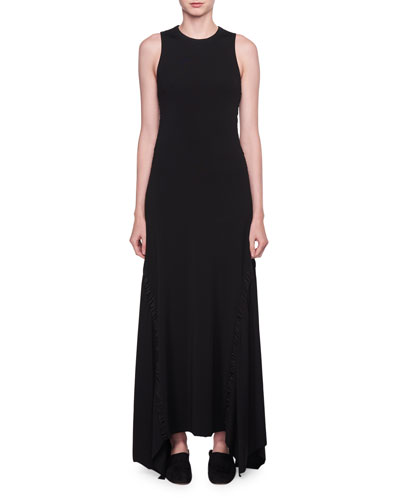 Ojoie Crewneck Long-Sleeve Long Shift Dress