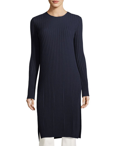 Minnie Crewneck Ribbed Wool Tunic
