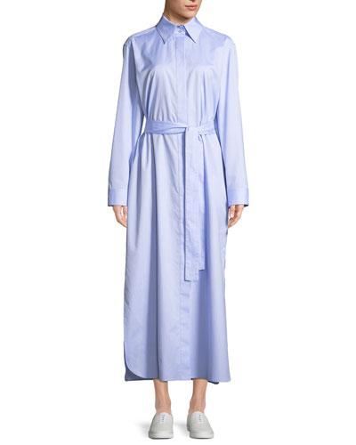 Lira Button-Down Long-Sleeve Shirtdress