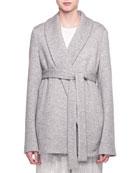Bruna Belted Cashmere-Blend Jacket