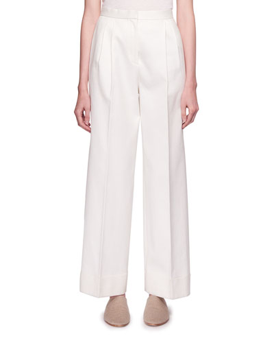 Lian High-Waist Wide-Leg Wool Pants