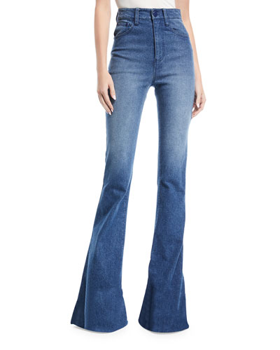 Bellbottom High-Rise Jeans