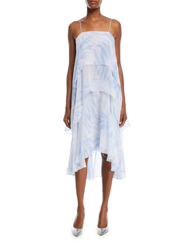 Tiered Silk Slip Dress