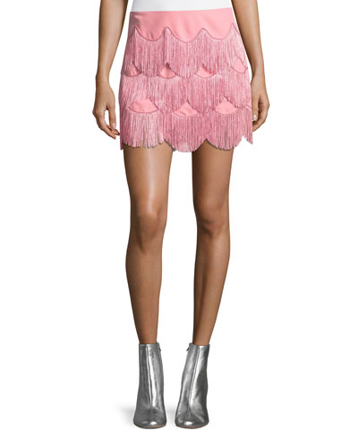 Mini Skirt with Fringe