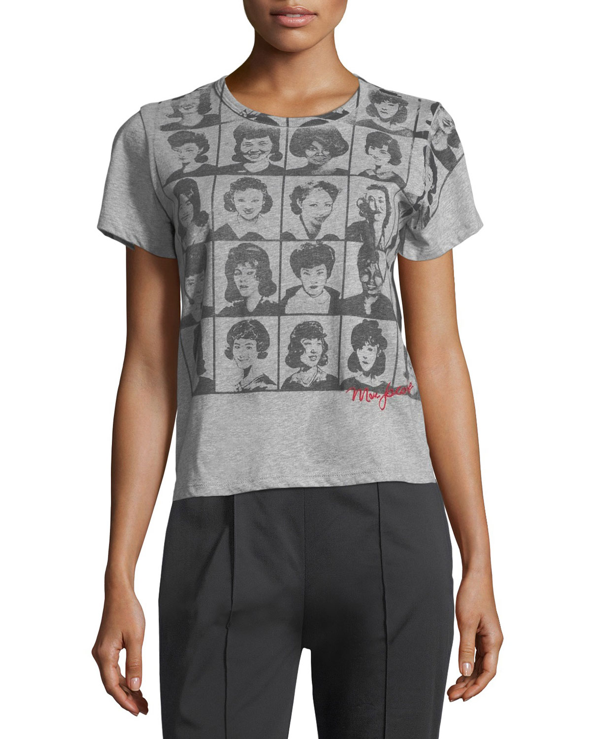 Yearbook-Print Short-Sleeve Cotton Tee