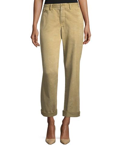 Garrison Straight-Leg Twill Cargo Pants