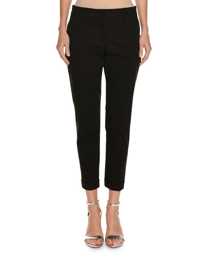 Violette Cotton Cuffed Crop Pants