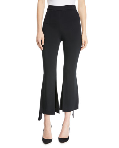 Salma Cropped Pants with Ribbon Slit Ankles