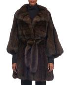 Sable-Fur Stroller Coat