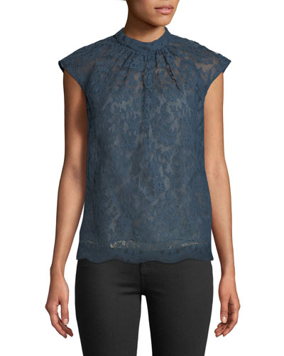Iona Cap-Sleeve Lace Top