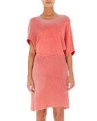 Tie-Dye Bias-Cut Sweatshirt Dress