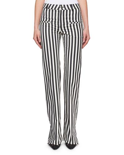 Jacques Low-Rise Striped Straight-Leg Pants