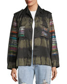 Friday Nights Tie-Dye Army Jacket
