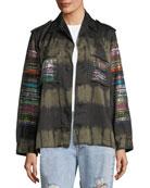 Friday Nights Tie-Dye Army Jacket