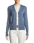 Button-Front Cashmere Cardigan