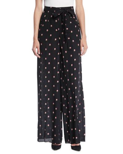 Quick Look. Valentino · Rosebud-Print Wide-Leg Silk Pajama Pants e6f2022b1