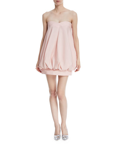 Strapless Sweetheart Bubble Cocktail Dress