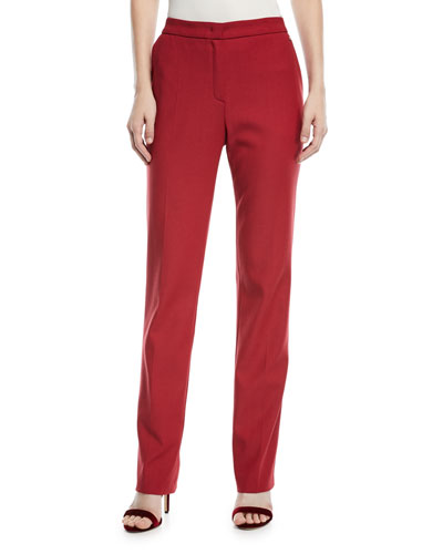Straight-Leg Wool Trousers