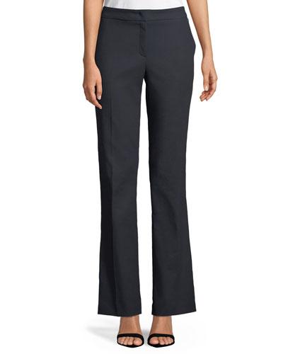 Tsegana Boot-cut Cotton Twill Pants
