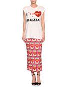 L'Amore è Bellezza Cap-Sleeve Graphic-Print T-Shirt