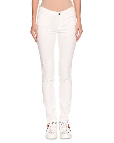 Mid-Rise Skinny-Leg Jeans with Sequin Card