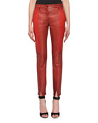 Bonded Sheep Skin Skinny Leather Trousers