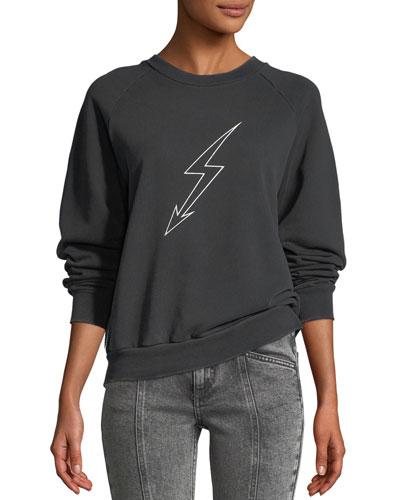 Lightning-Bolt World Tour Crewneck Jersey Sweatshirt
