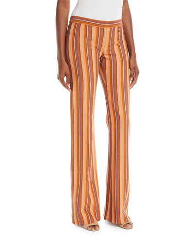 Blanket Striped Flare Trousers