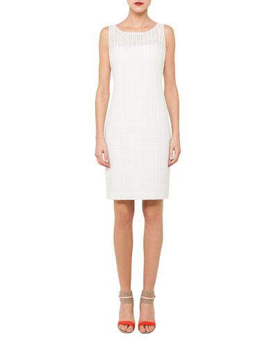 Sleeveless Silk Cotton Sheath Dress