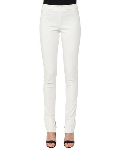 Fria Skinny-Leg Side-Zip Techno-Stretch Pants