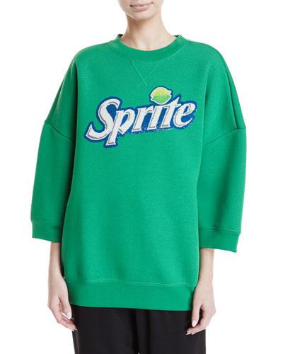 Sprite™ Bracelet-Sleeve Crewneck Sweatshirt