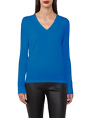 Sea Island V-Neck Long-Sleeve Pullover Tunic