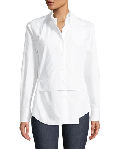 3ac910d1df White Poplin Blouse | Neiman Marcus
