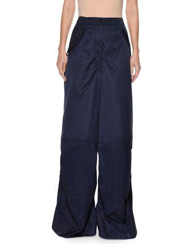 High-Waist Wide-Leg Woven Pants