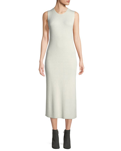 Ameris Crewneck Sleeveless Rib-Knit Tunic Dress