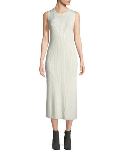 Ameris Crewneck Sleeveless Rib-Knit Tunic Dress
